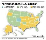 2000 map US obesity