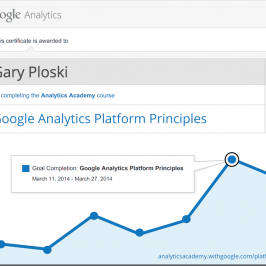 My Google Analytics Platform Principles Certificate