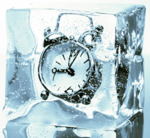 clock-in-ice